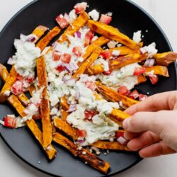 Greek sweet potato fries
