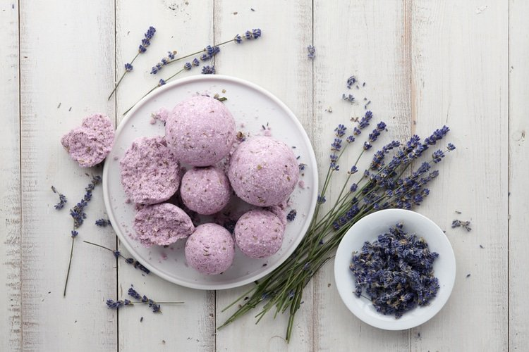 Sink into a warm bath with a bath bomb and let the aromatherapy soothe your soul!