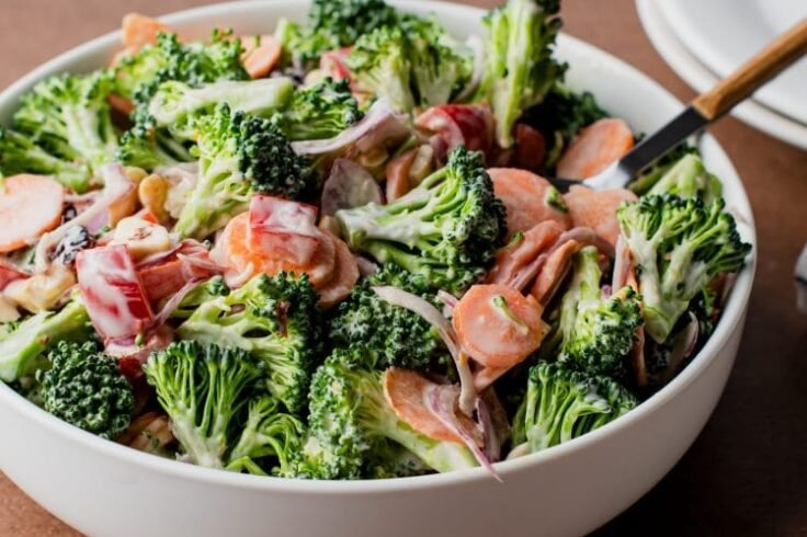 Our broccoli cashew crunch salad is about to become a new family-favorite recipe!