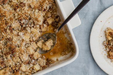 Clean-Eating Apple Pecan Crumble