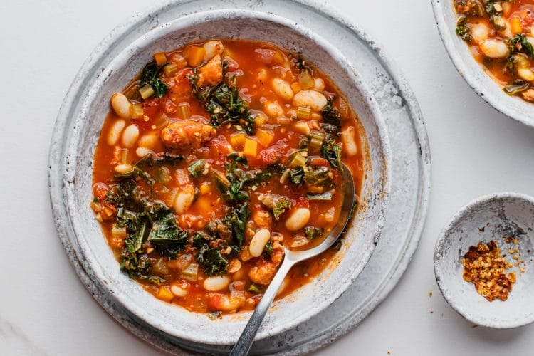 Our Italian sausage kale soup will fill your kitchen with an inviting aroma and your belly with warmth!