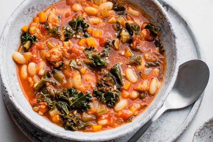 Italian Sausage Kale Soup Dinner Recipe
