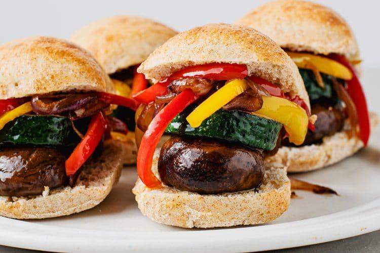 Philly Portabella Mushroom Zucchini Sliders