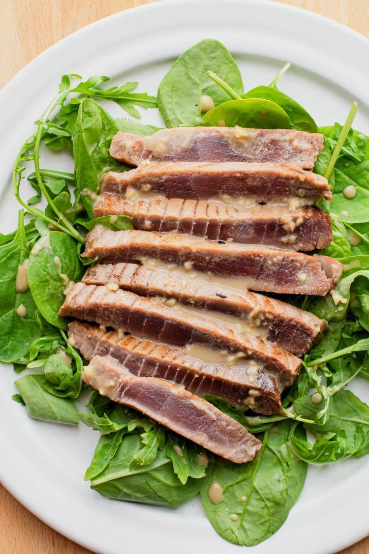 A sárgaúszójú tonhal kiváló választás ehhez a megpiszkált tonhal recepthez.
