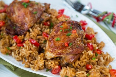 Slow Cooker Adobo Chicken and Rice