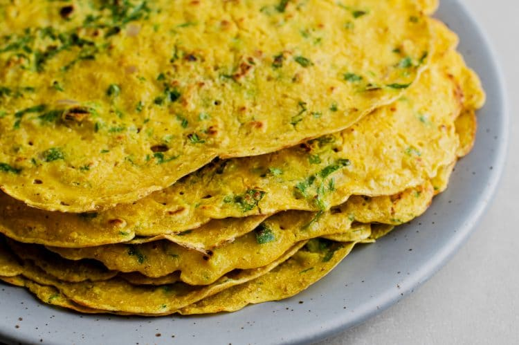 Switch up your breakfast routine with these savory chilla pancakes!