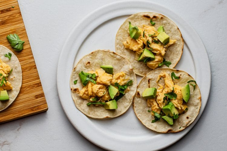 These simple breakfast tacos are perfect for busy mornings.
