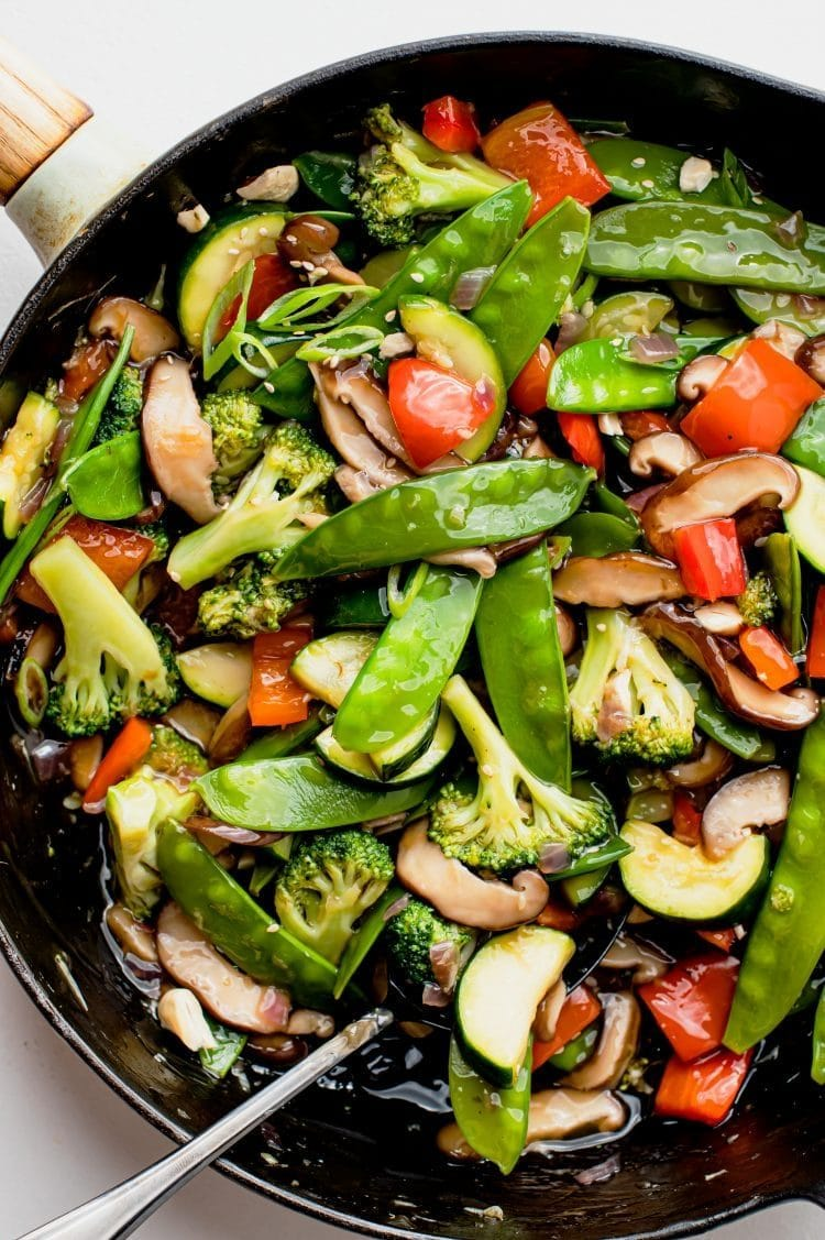 This stir-fry is vegan-friendly and loaded with healthy and delicious veggies that will keep you full for hours!