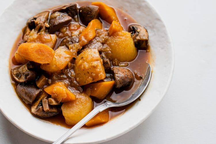 Instant Pot Vegan Pot Roast with Mushrooms