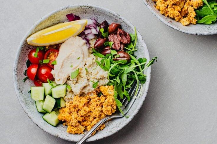 Mediterranean Quinoa Bowls with Spiced Tofu