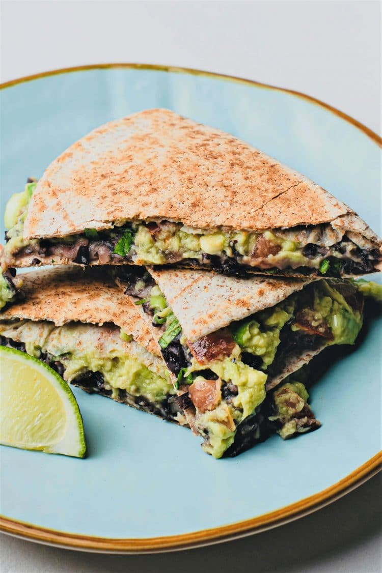 Nutritious and flavorfu, these quesadillas will be a hit with vegans and meat-eaters alike!