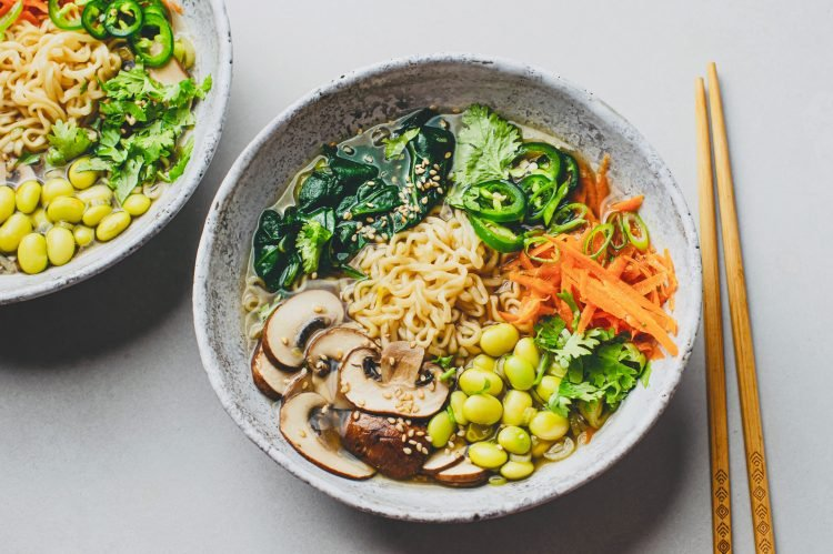 Our Plant-Based Ramen with Edamame makes an awesome lunch or dinner!