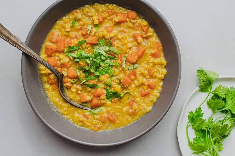 Our Protein-Packed Slow Cooker Sweet Potato and Lentil Curry is chock-full of vital nutrients, making it an excellent, healthy dinner option!