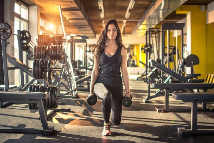 Give Your Muscles a Makeover with this Easy Dumbbell Routine - Walking Lunges