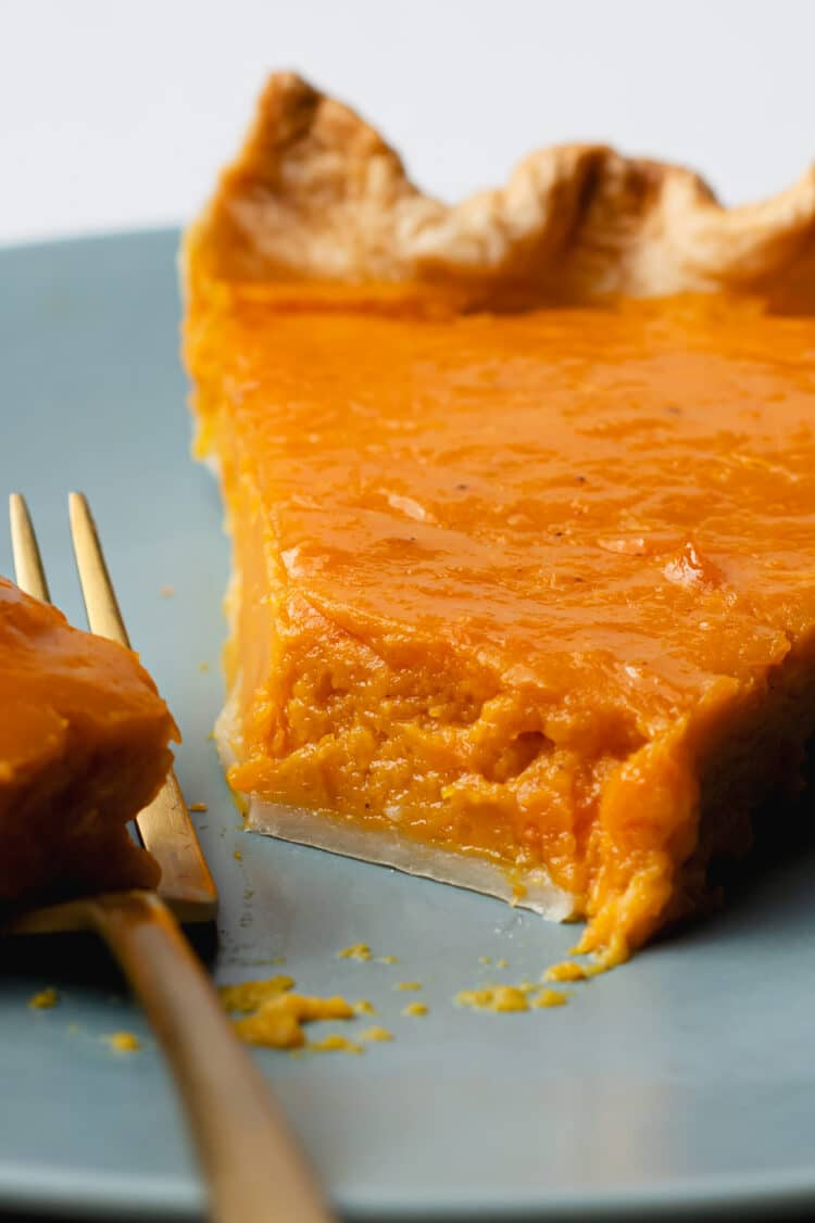 Try this moist and decadent pumpkin pie to finish off your holiday dinner!