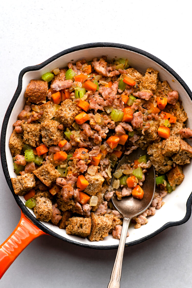 This healthy stuffing is the perfect addition to your holiday dinner!