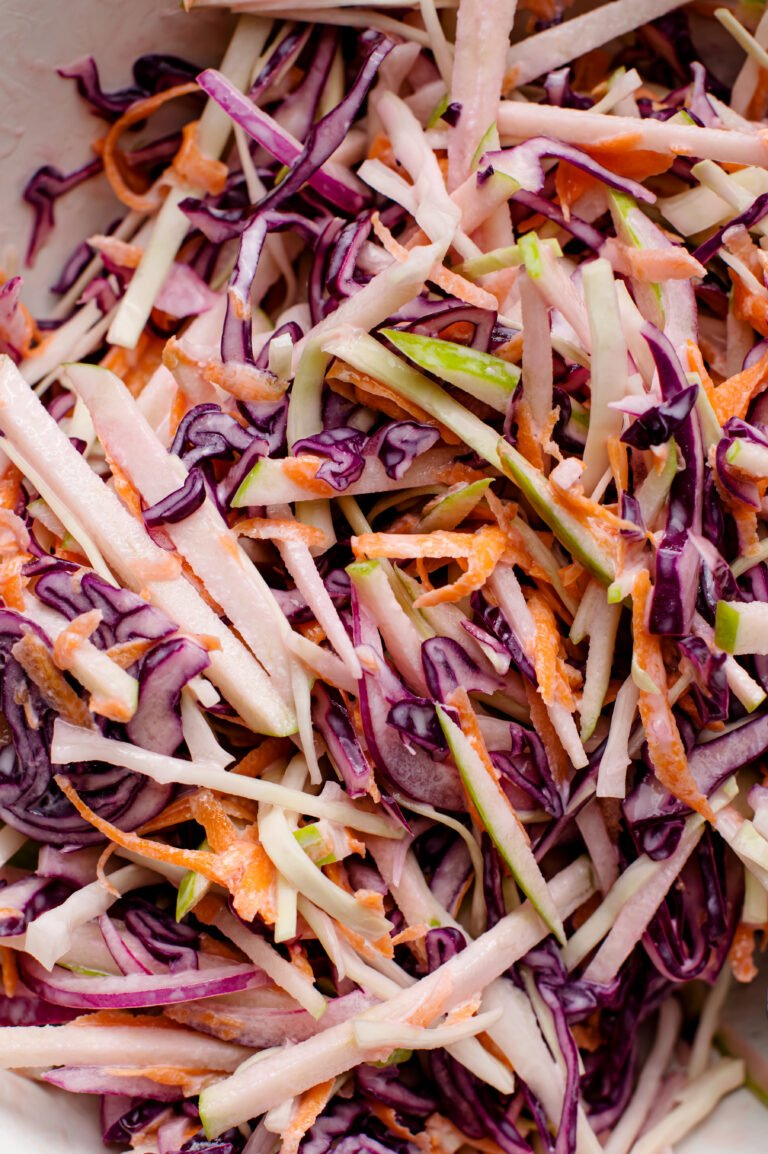 this delicious cabbage slaw will be s hit at your next cookout!