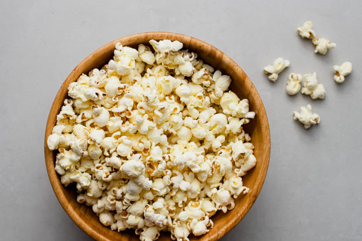 Our easy sea salt skillet popcorn is perfect for your next night in!