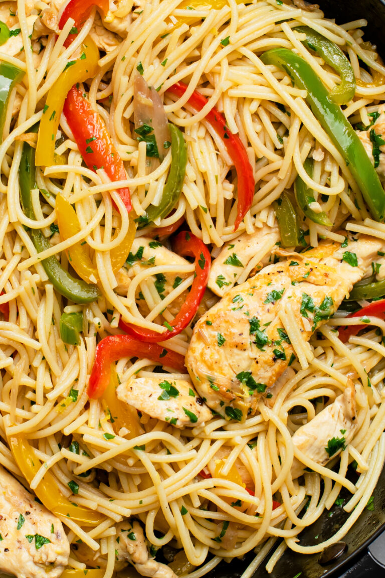 This gluten-free chicken scampi is a healthy and filling dinner option.