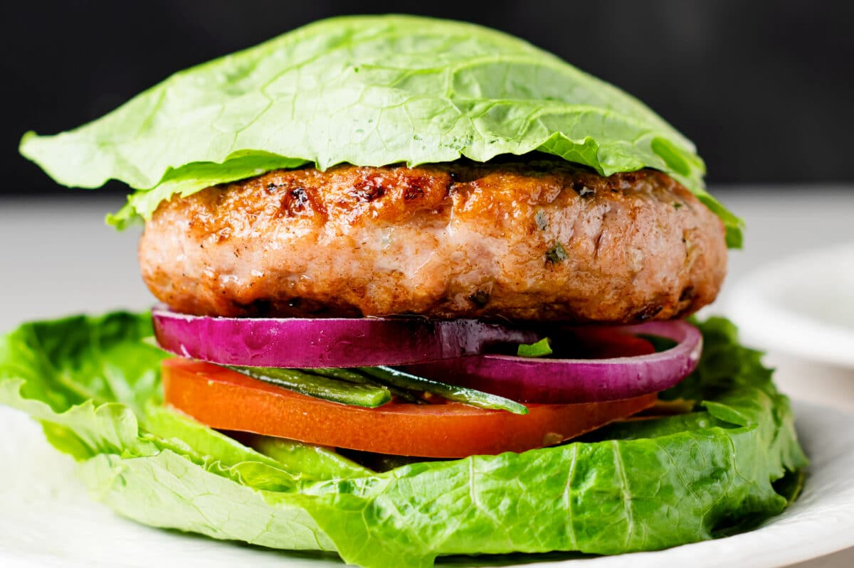 This savory, keto-friendly, flavor-packed turkey burger is absolutley delicious!