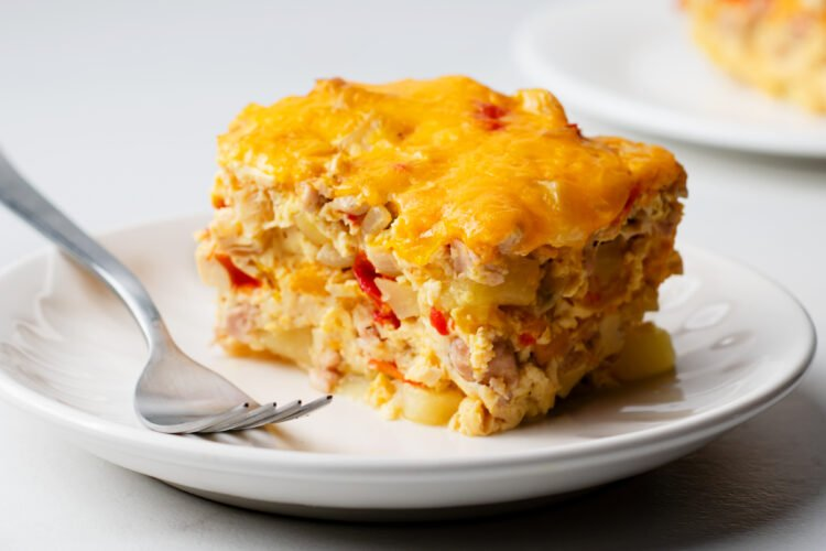 Dig into this delicious overnight breakfast casserole, any day of the week!