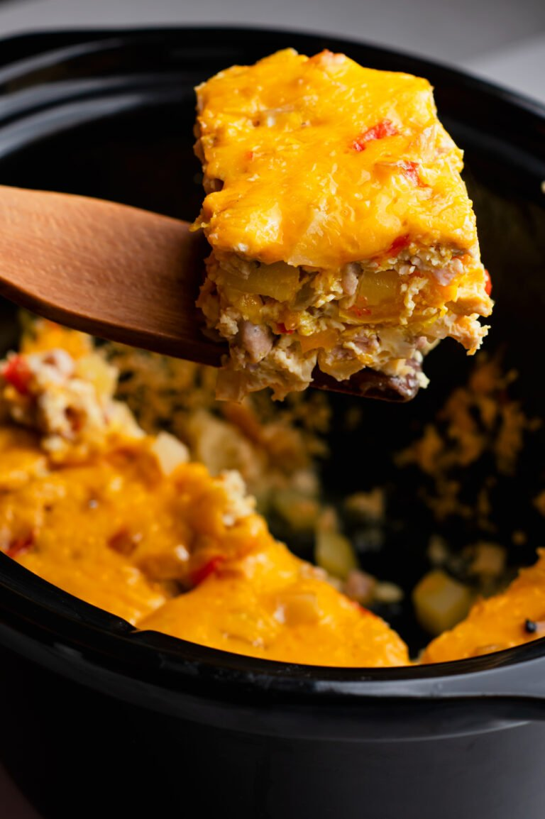 Make this overnight breakfast casserole for an easy morning!