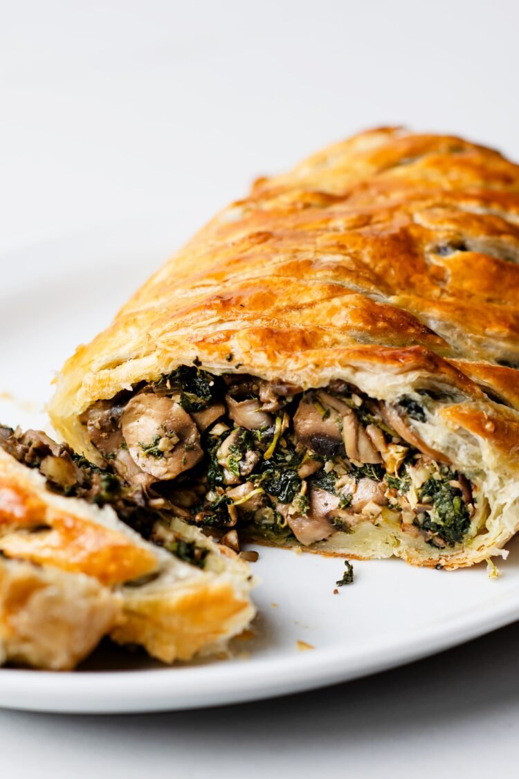 Our beautiful and delicious vegan beef wellington is sure to be a holiday show stopper!