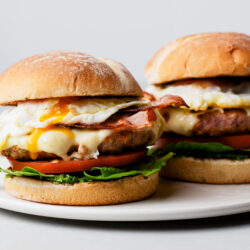 Tired of the same old breakfast? Try our juicy and flavorful turkey sausage brunch burgers!