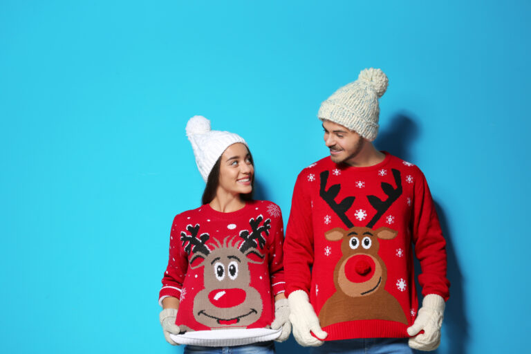 Have an ugly Christmas sweater competiton for your virtual party!