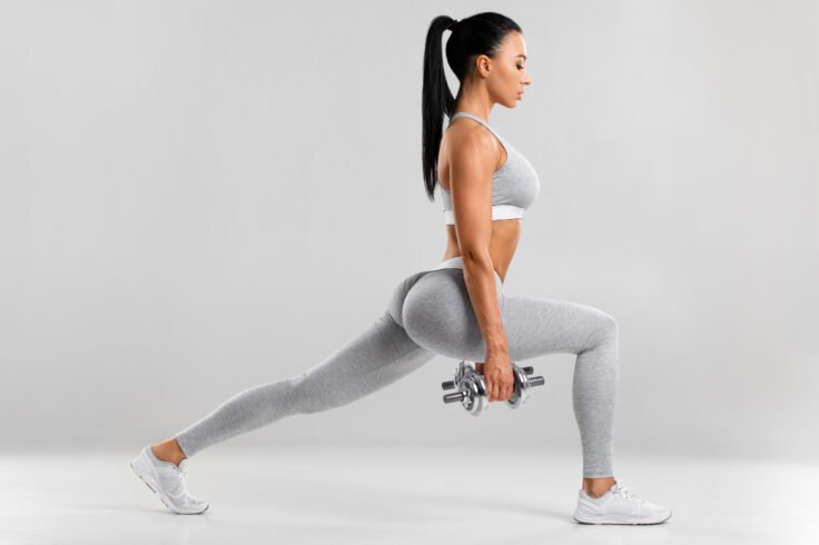 One of the best butt exercises to sculpt a firmer booty is lunges!
