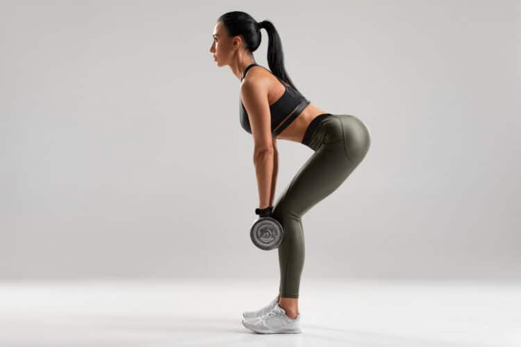 Dumbbell deadlifts are a great butt exercise!
