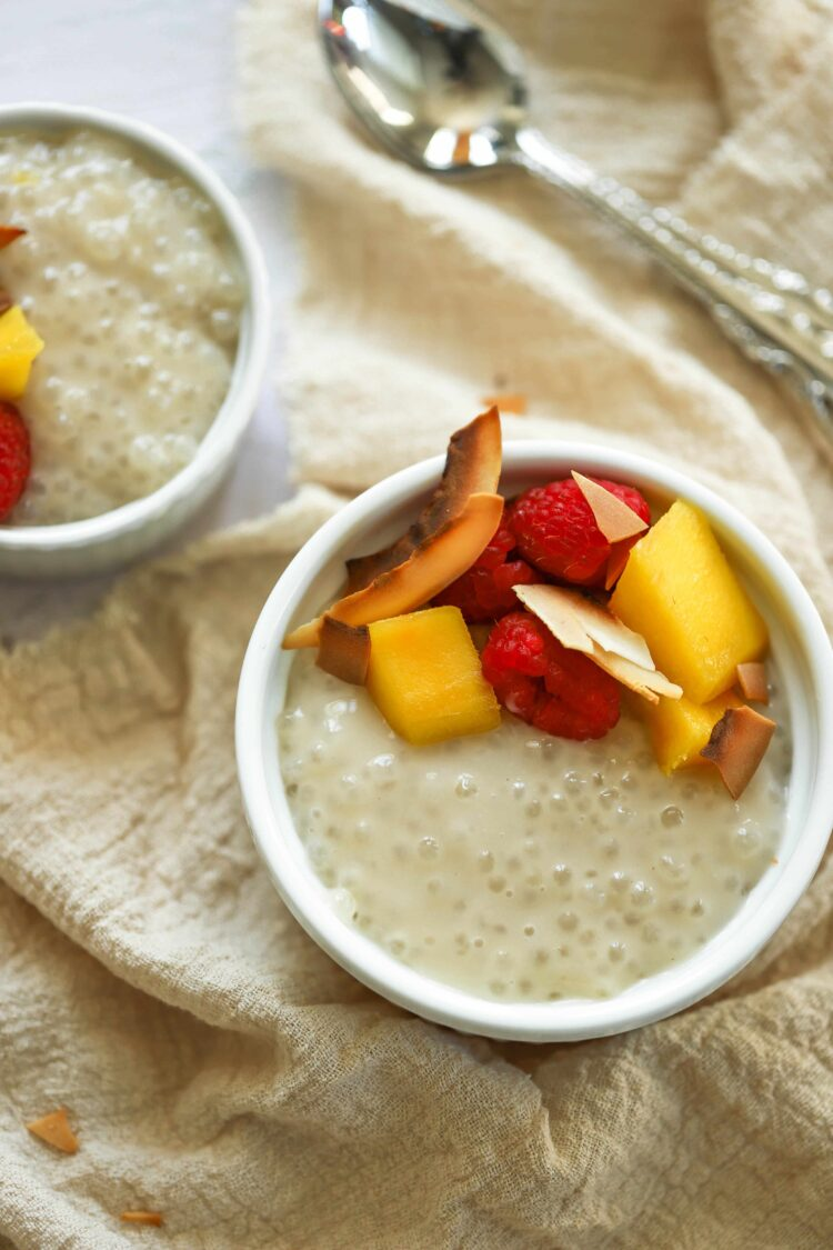 This coconut milk tapioca pudding is a clean-eating dessert you'll love!