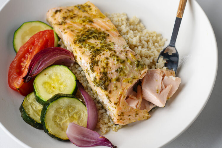 Our citrus salmon is light, zesty, and absolutely delicious!