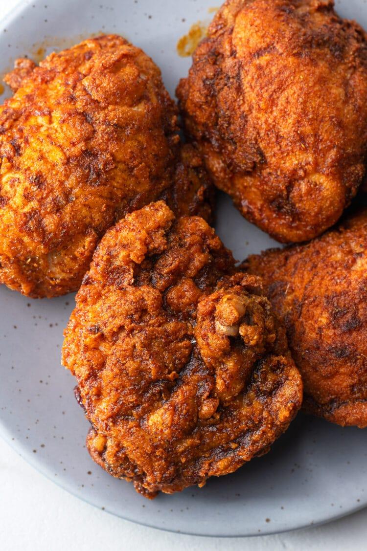 Our chickpea nashville hot chicken is made with healthier ingredients that still taste amazing!