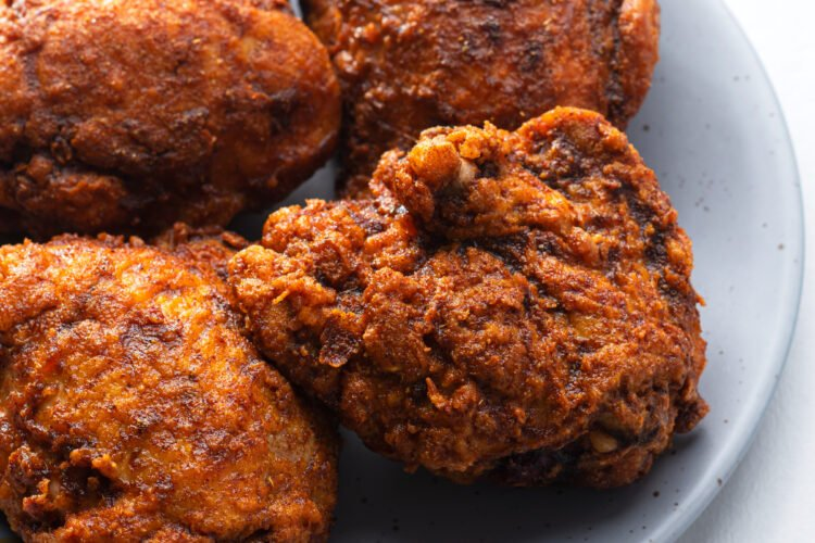 This healthy fried chicken is savory and delicious!