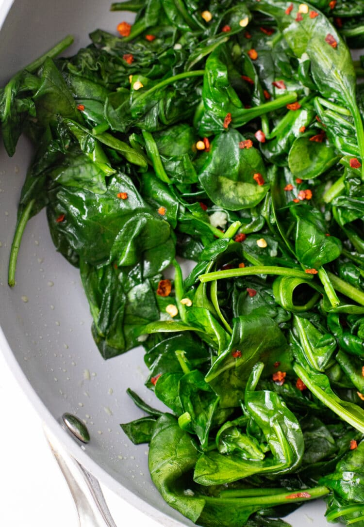These easy sauteed greens will add a whole bunch of nutrition to any meal!