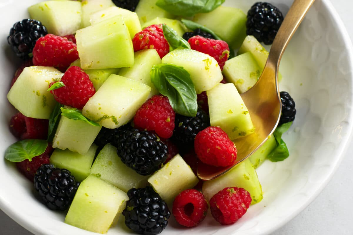 This fruit salad is super tasty and incredibly good for you! It's a great way to stay hydrated!
