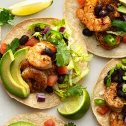 These gorgeous grilled shrimp tacos are sure to impress you and all of your guests!