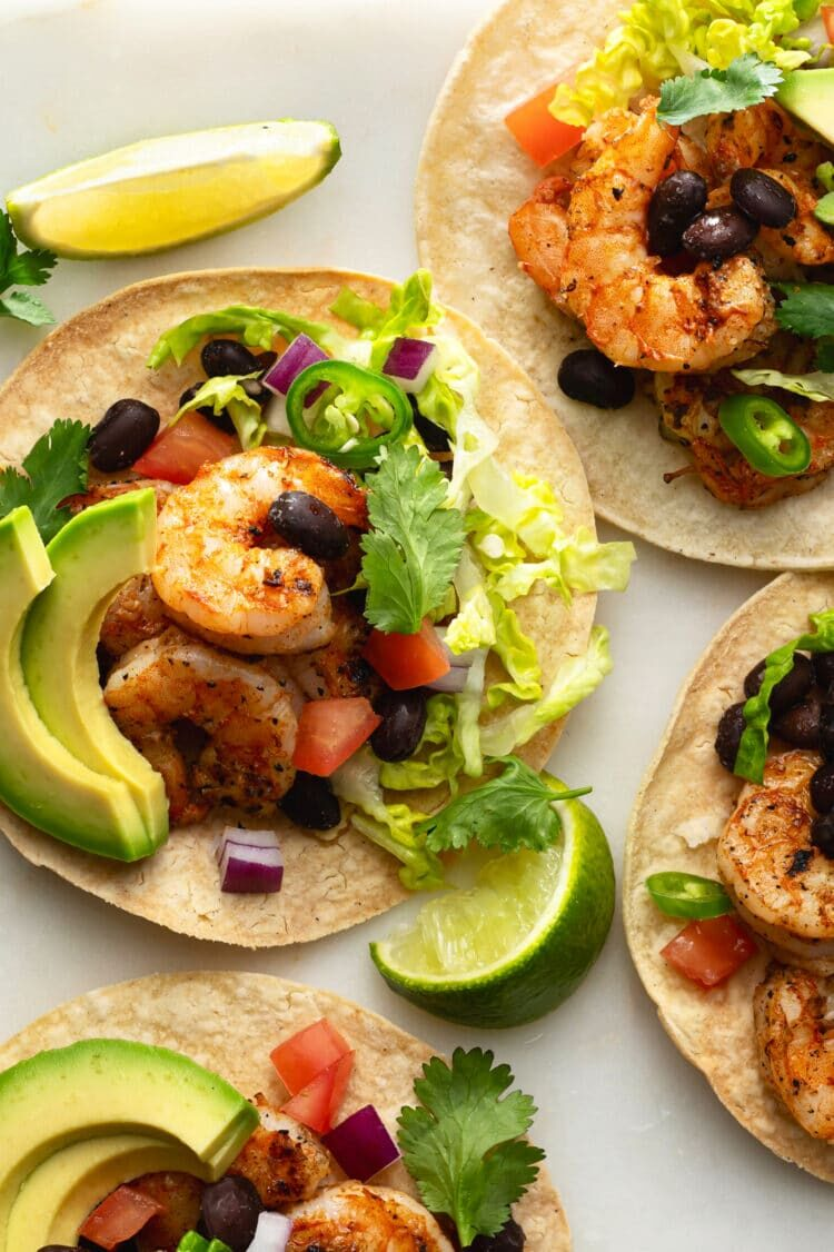 Vibrant colors and delicious flavors make these shrimp tacos the perfect Spring or Summer recipe!