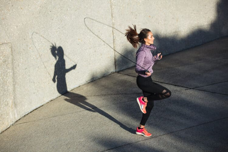 Jumping rope is a great exercise to get your heart rate up when you build your own HIIT workout.