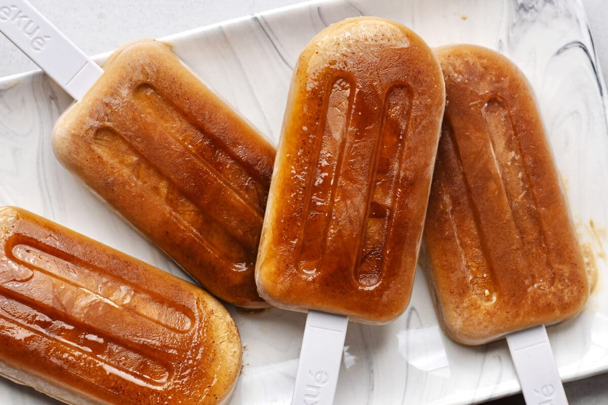 Our maple coffee ice pops are perfect on a warm Summer or Fall day!