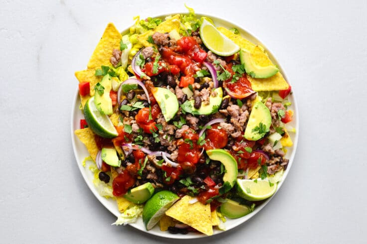 Our spicy nacho salad is the perfect healthy option whenever you've got Southwest flavors on the brain.