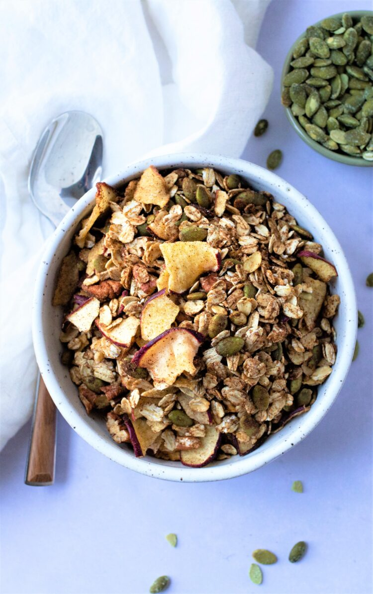 Nutritious ingredients like oats, seeds, dried apples, and more make for one seriously yummy recipe!