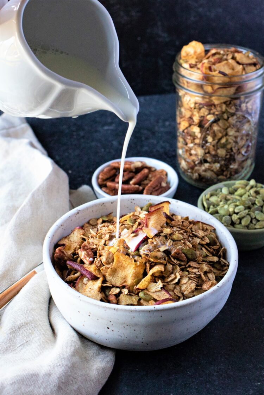Eat this yummy granola with milk or Greek yogurt!