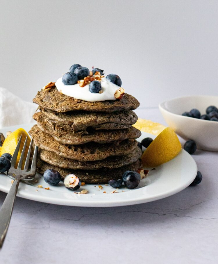 These healthy buckwheat pancakes are perfect for Sunday morning!