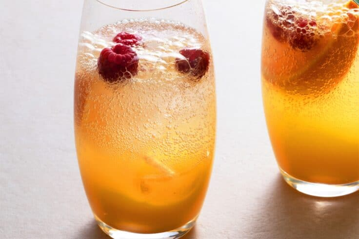 Our tasty citrus spritz mocktail is the perfect way to cool down on a hot summer day!