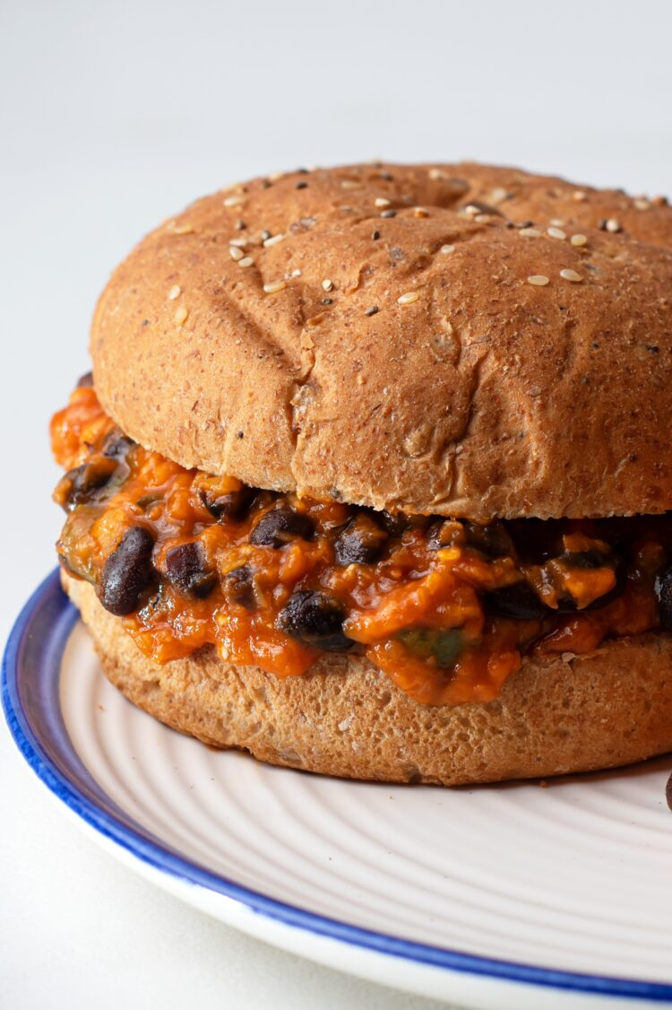 This easy vegetarian sloppy joe recipe is the perfect lunch or light dinner!