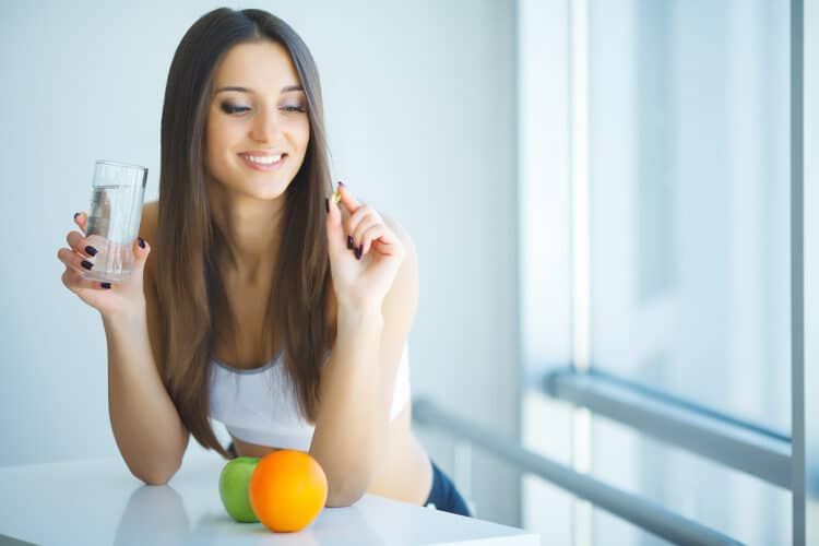 Stack the habit of drinking water in the morning with taking a multivitamin!