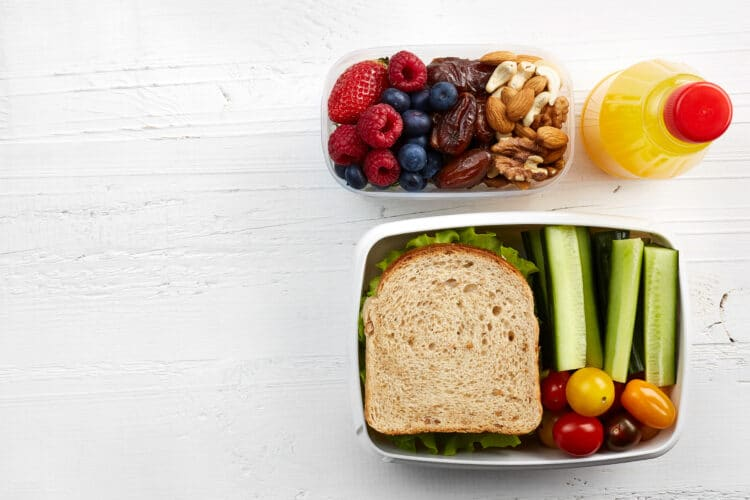 While you're packing your healthy lunch, make it a habit to include a fruit or veggie every time!
