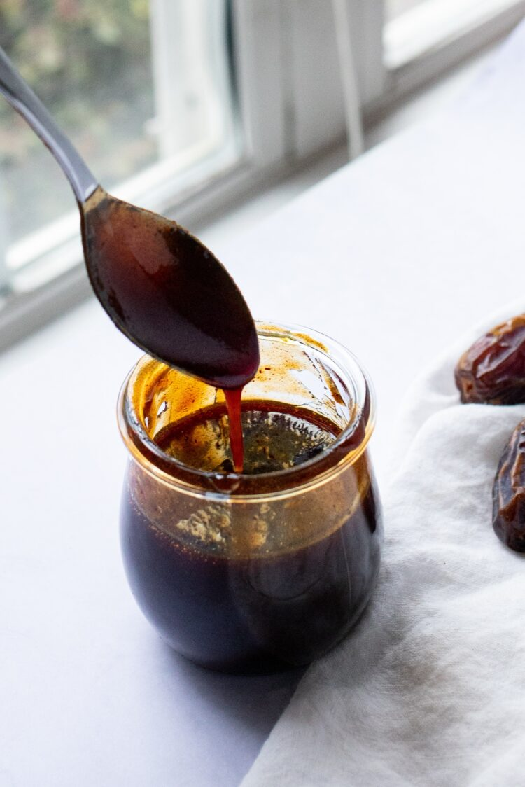 This low-calorie date syrup is an excellent alternative to honey or maple syrup.